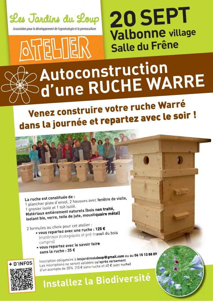 Atelier ruche Warré le 20 septembre à Valbonne