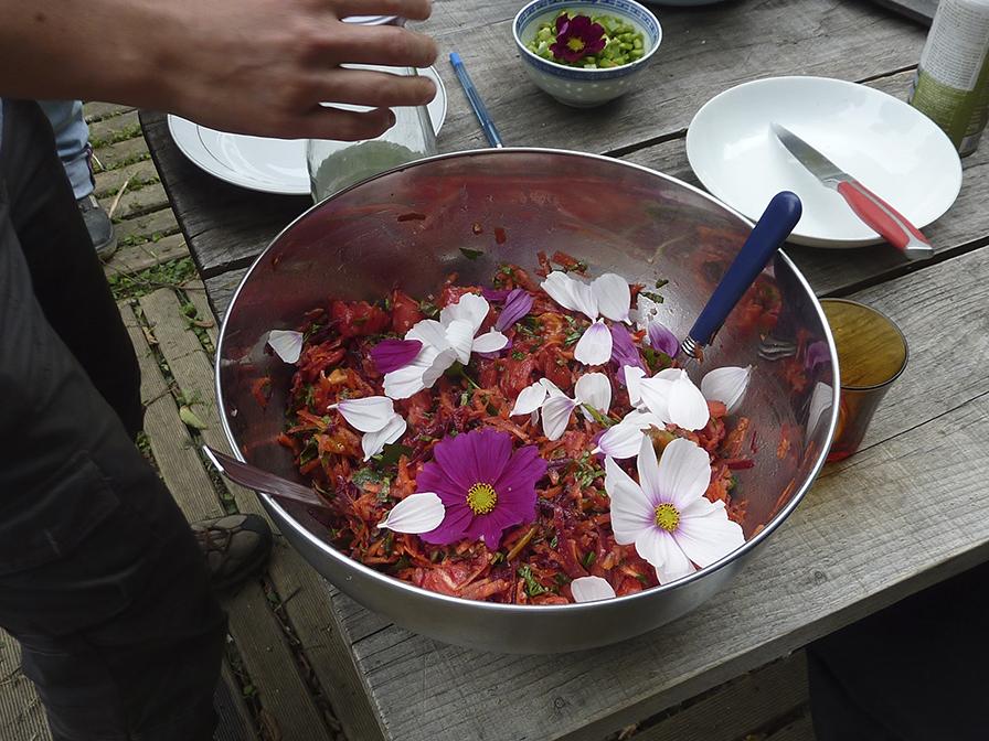 salade fleur